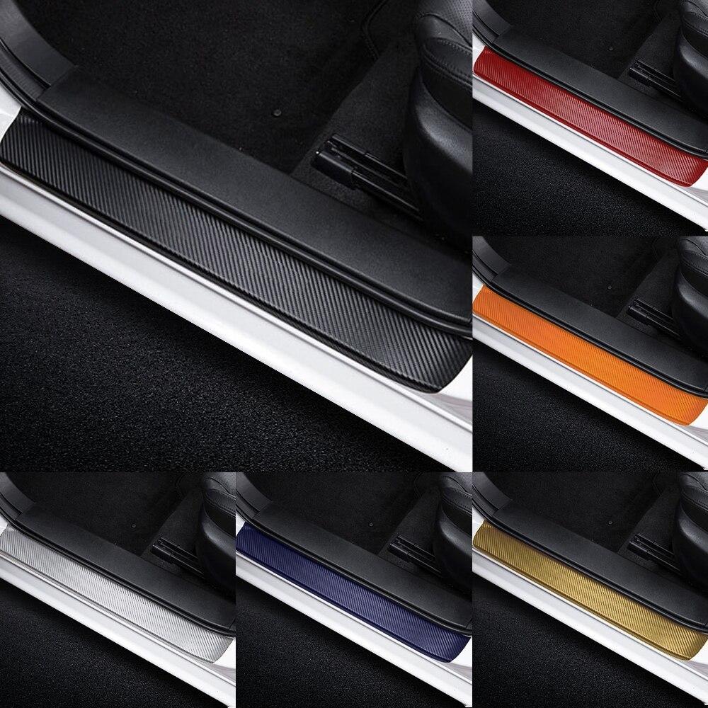 新品 4PCS3Dカーボンファイバードアプロテクターステッカー全6色 ドアプロテクター ステッカー 敷居 カーアクセサリー SUZUKI スズキ_画像4