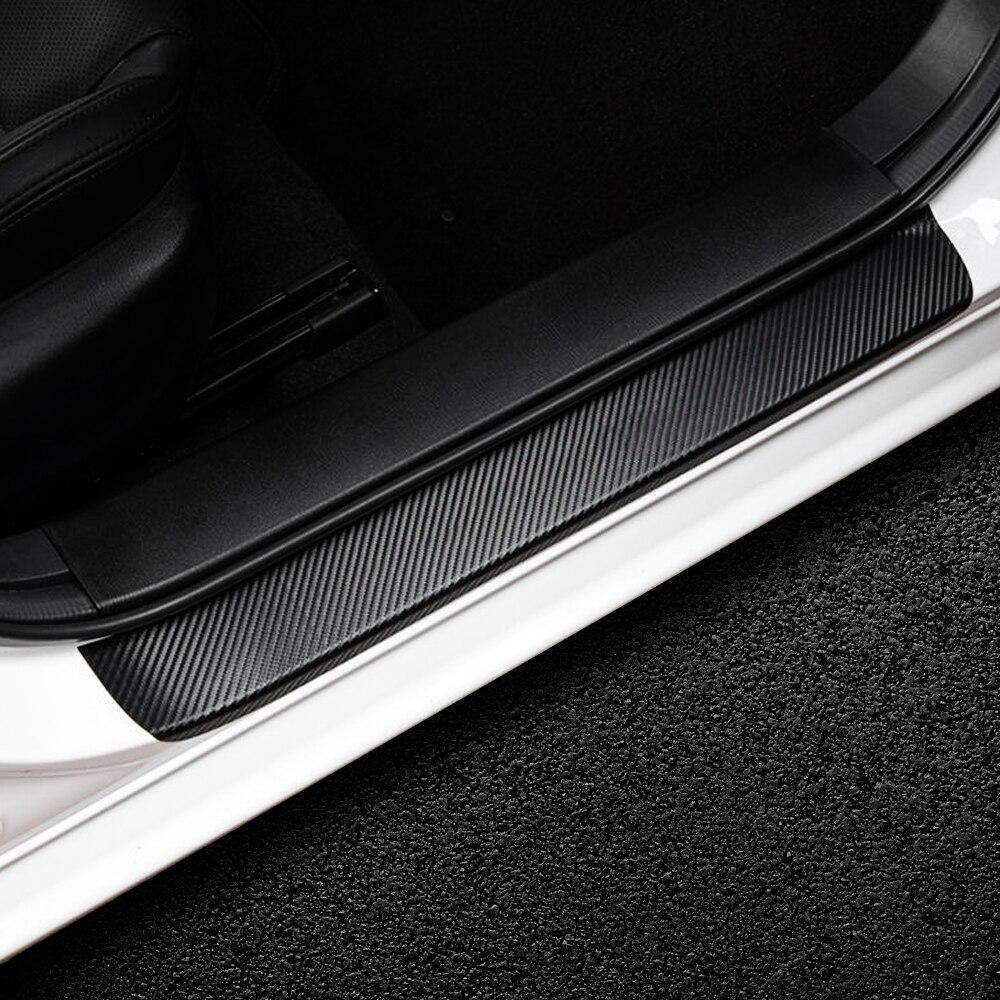 新品 4PCS3Dカーボンファイバードアプロテクターステッカー全6色 ドアプロテクター ステッカー 敷居 カーアクセサリー SUZUKI スズキ_画像5