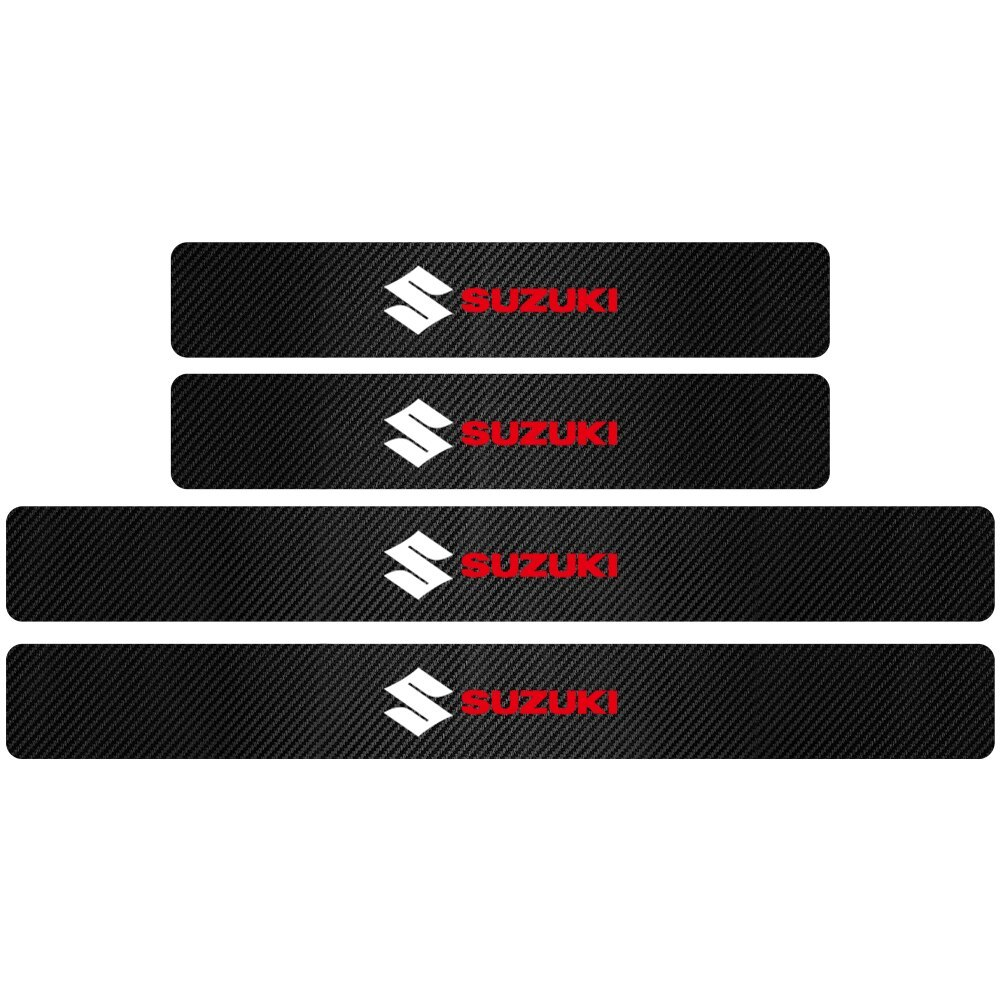 新品 4PCS3Dカーボンファイバードアプロテクターステッカー全6色 ドアプロテクター ステッカー 敷居 カーアクセサリー SUZUKI スズキ_画像7