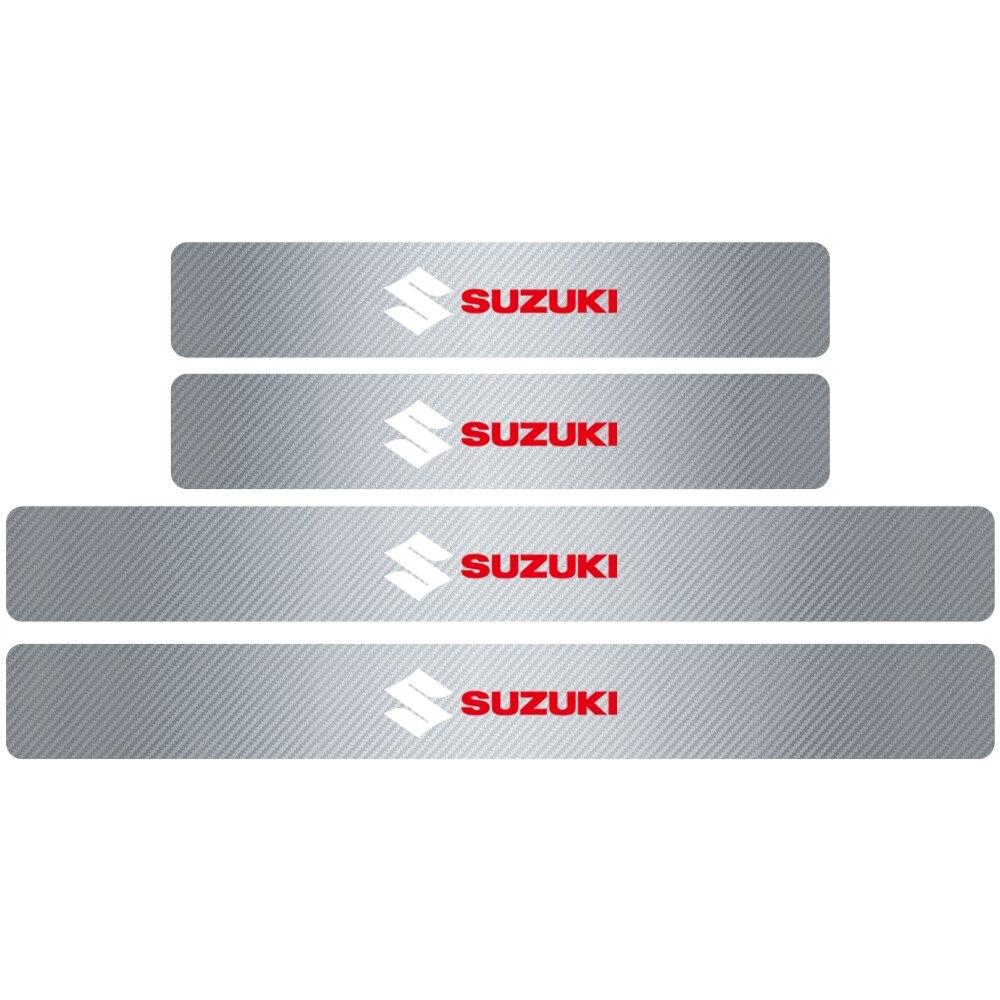 新品 4PCS3Dカーボンファイバードアプロテクターステッカー全6色 ドアプロテクター ステッカー 敷居 カーアクセサリー SUZUKI スズキ_画像8