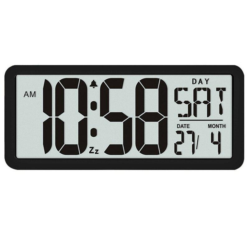 新品 13.8インチ大型デジタルジャンボ目覚まし時計 スクエア ウォールクロック 壁掛け 卓上 時計 大型 日付 湿度 インテリア オフィス_画像1