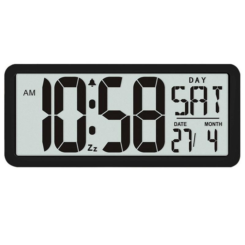 ▲送料無料 13.8インチ大型デジタルジャンボ目覚まし時計 スクエア ウォールクロック 壁掛け 卓上 時計 大型 湿度 インテリア オフィス_画像1
