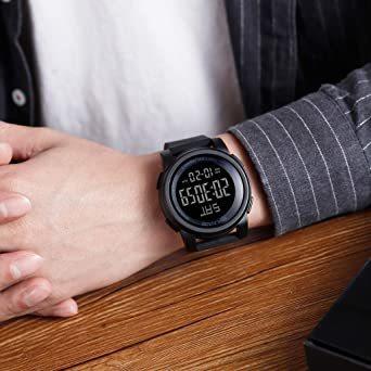 ブラック Timever(タイムエバー)デジタル腕時計 防水 メンズ スポーツ うで時計 多 機能 付き ストップウォッチ アラ_画像8