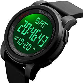 ブラック Timever(タイムエバー)デジタル腕時計 防水 メンズ スポーツ うで時計 多 機能 付き ストップウォッチ アラ_画像1