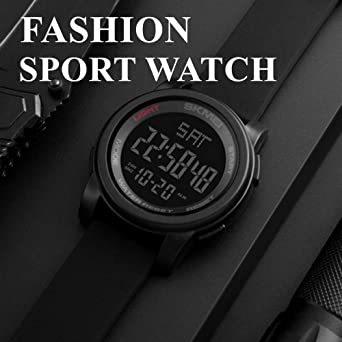 ブラック Timever(タイムエバー)デジタル腕時計 防水 メンズ スポーツ うで時計 多 機能 付き ストップウォッチ アラ_画像4