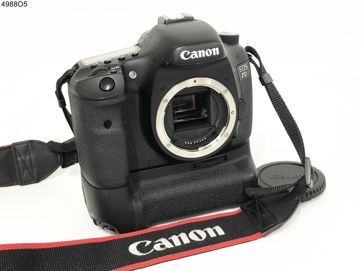 ★シャッターOK◎ Canon キャノン EOS 7D イオス 一眼レフ デジタルカメラ ボディ BG-E7 バッテリーグリップ 4988O5⑨