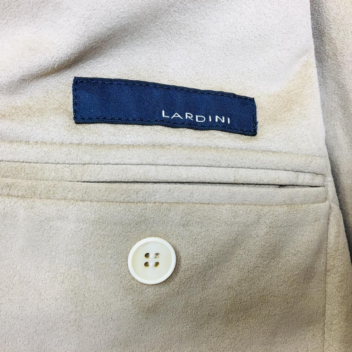 LARDINI ラルディーニ レザー風 ALCANTARA メンズ サファリ ジャケット 46 ベージュ系_画像4