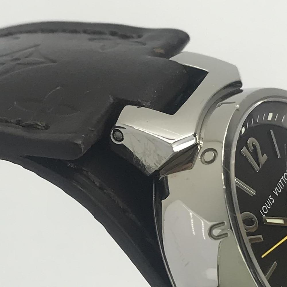 LOUIS VUITTON ルイヴィトン Q1211 タンブール レディース 腕時計 クオーツ ブラウン文字盤 アラビアインデックス 3針 デイト 管理YK23048_画像6
