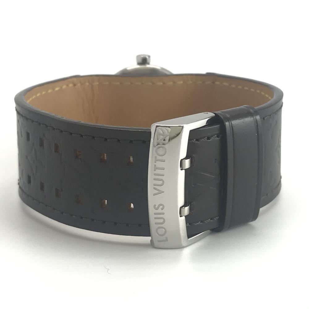 LOUIS VUITTON ルイヴィトン Q1211 タンブール レディース 腕時計 クオーツ ブラウン文字盤 アラビアインデックス 3針 デイト 管理YK23048_画像7