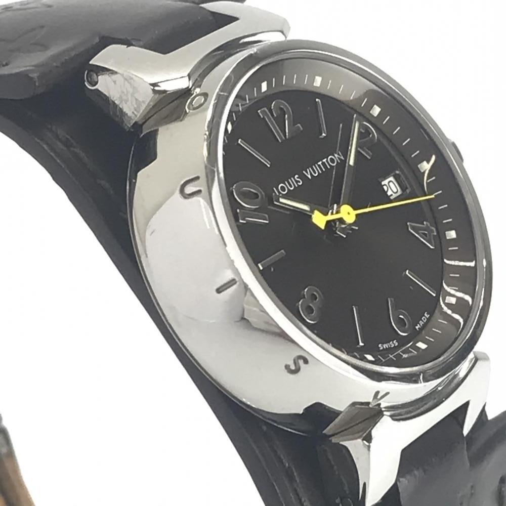 LOUIS VUITTON ルイヴィトン Q1211 タンブール レディース 腕時計 クオーツ ブラウン文字盤 アラビアインデックス 3針 デイト 管理YK23048_画像5