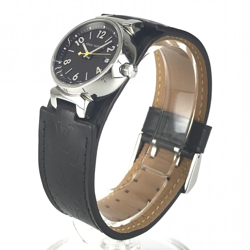 LOUIS VUITTON ルイヴィトン Q1211 タンブール レディース 腕時計 クオーツ ブラウン文字盤 アラビアインデックス 3針 デイト 管理YK23048_画像2