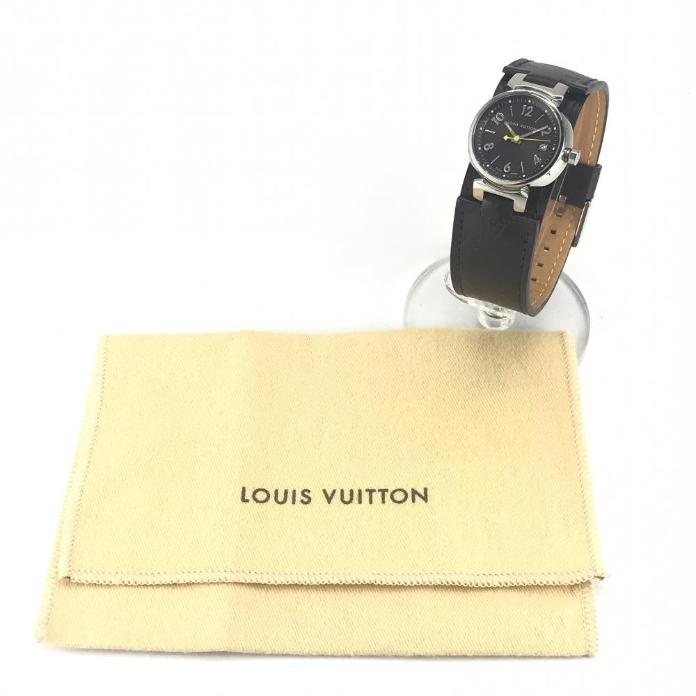 LOUIS VUITTON ルイヴィトン Q1211 タンブール レディース 腕時計 クオーツ ブラウン文字盤 アラビアインデックス 3針 デイト 管理YK23048_画像10