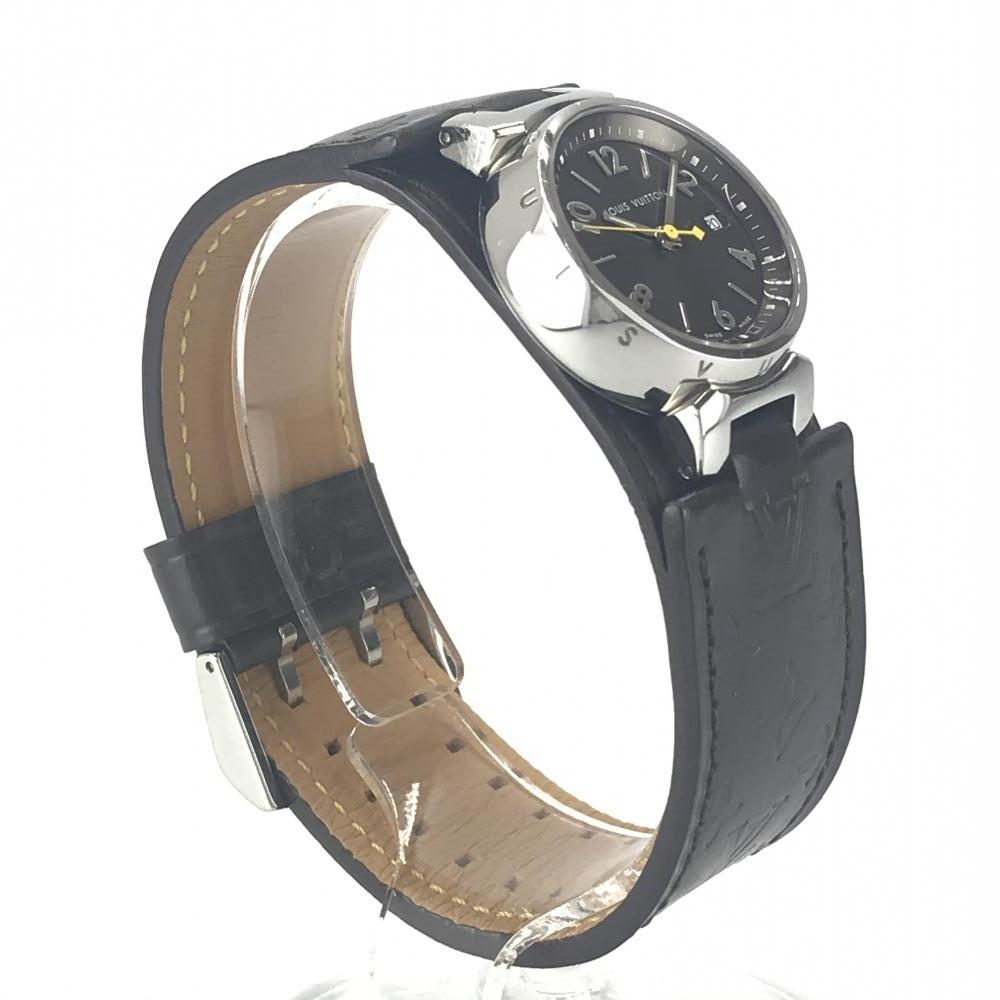 LOUIS VUITTON ルイヴィトン Q1211 タンブール レディース 腕時計 クオーツ ブラウン文字盤 アラビアインデックス 3針 デイト 管理YK23048_画像4