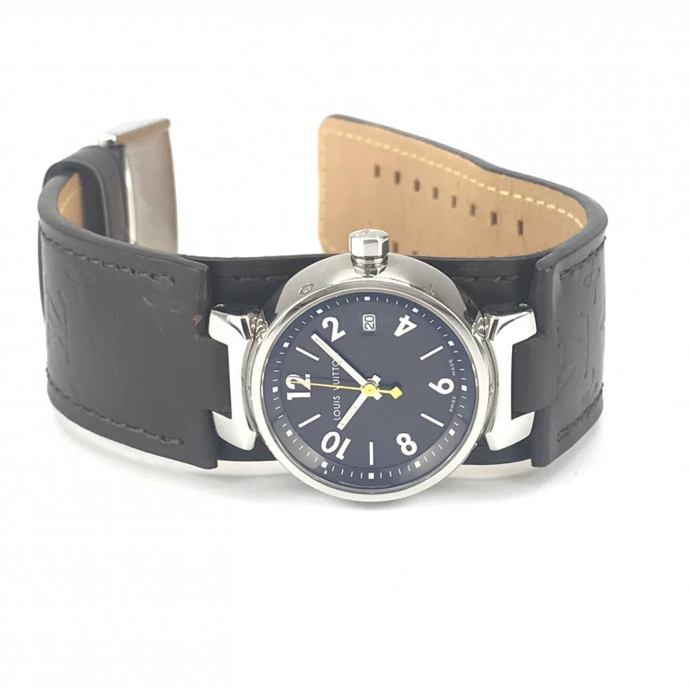 LOUIS VUITTON ルイヴィトン Q1211 タンブール レディース 腕時計 クオーツ ブラウン文字盤 アラビアインデックス 3針 デイト 管理YK23048_画像9