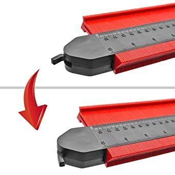 Mogattiny 型取りゲージ 250mm コンターゲージ ロック付き, 幅広 測定ゲージ 曲線定規 DIY用測定工具 不規則_画像3