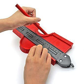 Mogattiny 型取りゲージ 250mm コンターゲージ ロック付き, 幅広 測定ゲージ 曲線定規 DIY用測定工具 不規則_画像5