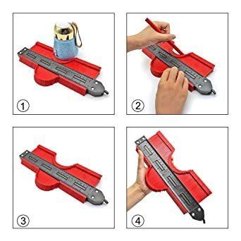 Mogattiny 型取りゲージ 250mm コンターゲージ ロック付き, 幅広 測定ゲージ 曲線定規 DIY用測定工具 不規則_画像6