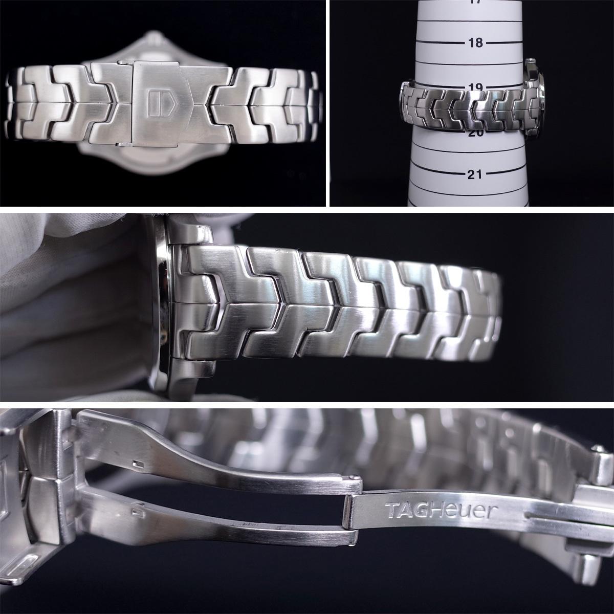 1年保証♪タグホイヤー【リンク】キャリバー6 WJF211A 自動巻 黒文字盤 ブラック ブレスレット 箱 メンズ 腕時計 TAG HEUER_画像8