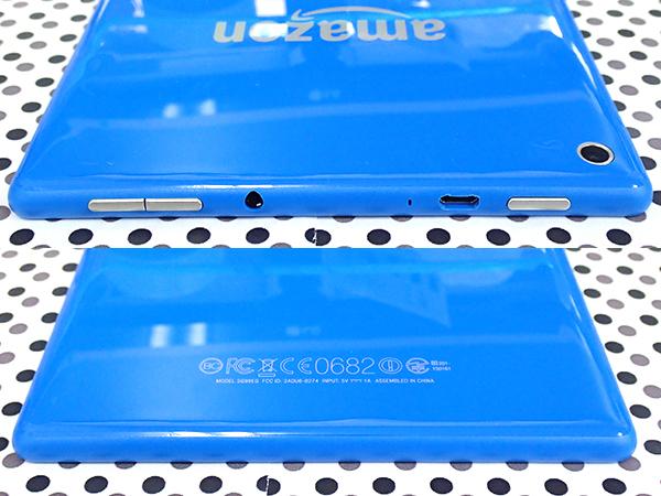 【中古 美品】Amazon Fire HD 8 第5世代 8GB ブルー SG98EG タブレット 本体 専用カバー 付属付き(LCA587-4)_画像4