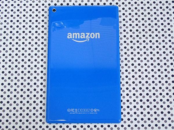【中古 美品】Amazon Fire HD 8 第5世代 8GB ブルー SG98EG タブレット 本体 専用カバー 付属付き(LCA587-4)_画像3