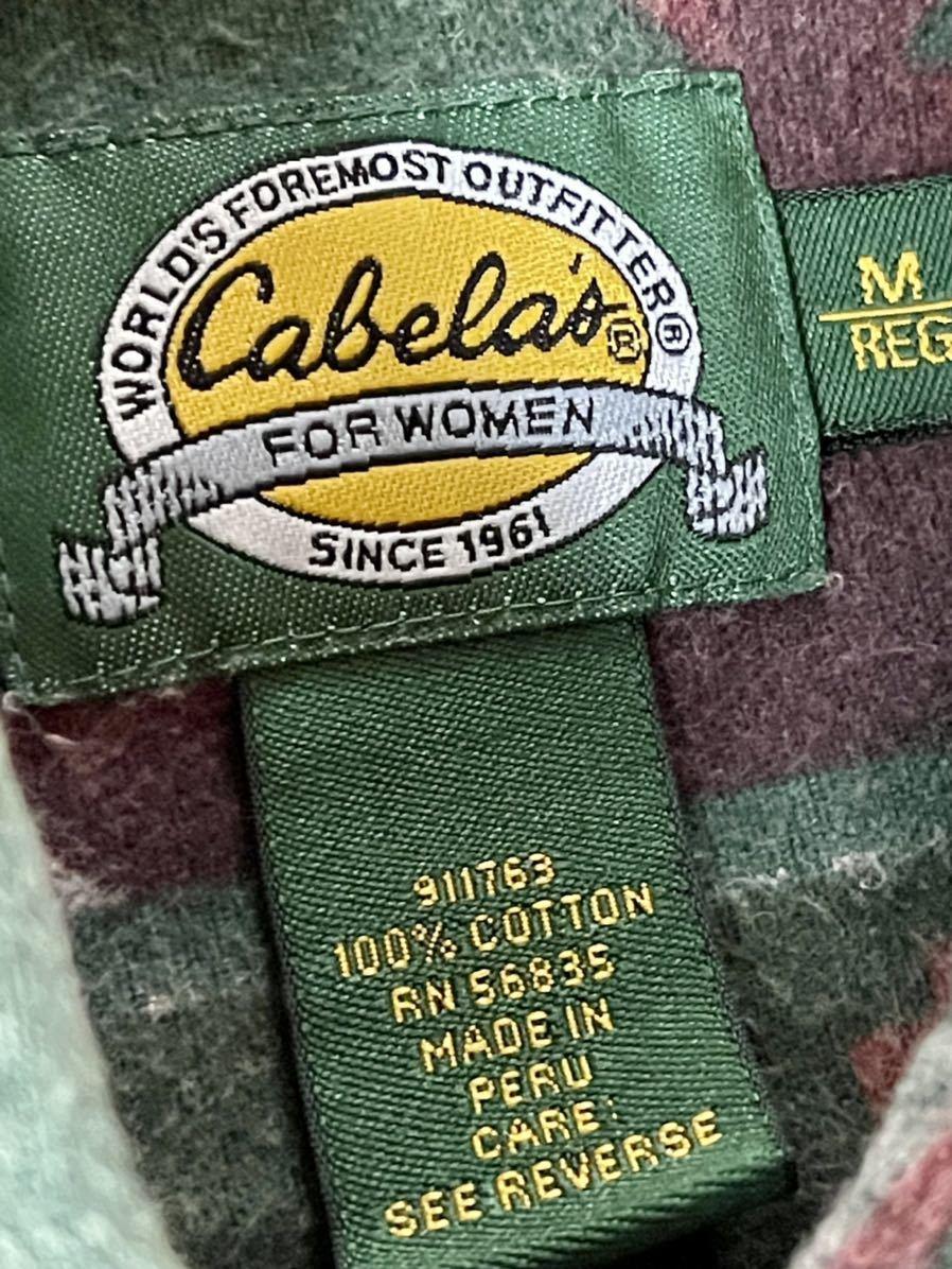 激安破格!Cabela's カラベス ネイティブ柄 シャモアクロスシャツ 90s アウトドア 長袖シャツ_画像5