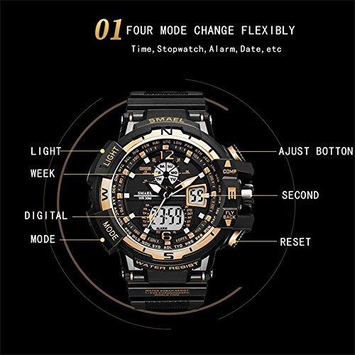 SMAEL(スマエル) 腕時計 メンズ SMAEL腕時計 メンズウォッチ 防水 スポーツウォッチ アナログ表示 デジタル 多機能_画像2