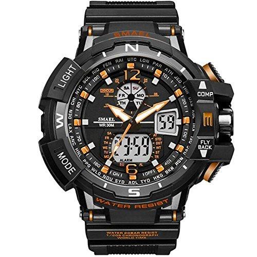 SMAEL(スマエル) 腕時計 メンズ SMAEL腕時計 メンズウォッチ 防水 スポーツウォッチ アナログ表示 デジタル 多機能_画像1