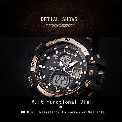 SMAEL(スマエル) 腕時計 メンズ SMAEL腕時計 メンズウォッチ 防水 スポーツウォッチ アナログ表示 デジタル 多機能_画像5