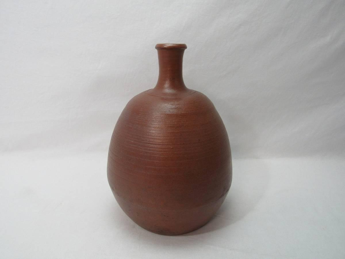 YG04336 【 古い 陶器 花瓶 印有 作者不明 箱無 】 検) 作家物 茶道具 茶事 茶会 茶席 華道具 一輪挿し 花入れ 華道 花器 いけばな 飾り ⅱ_画像2