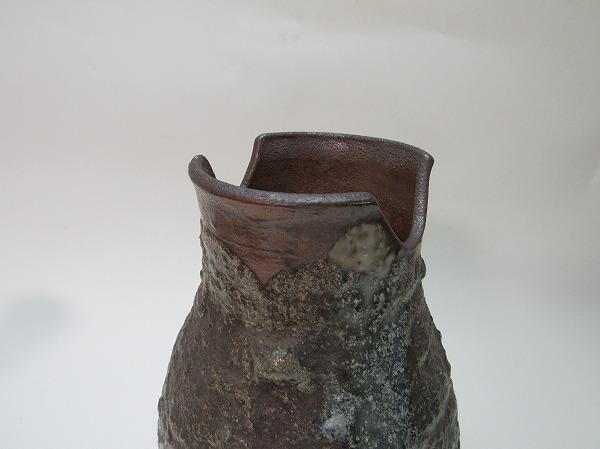 YG04332 【 古い 陶器 花瓶 陶印 作者不明 箱無 】 検) 作家物 いけばな 御茶道具 茶事 茶会 和物 一輪挿し 華道 花器 花生 床飾り 置物 ⅱ_画像9