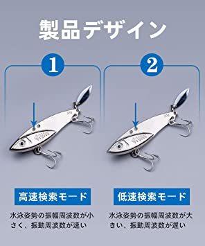 30g*5個 LDT ルアー アイアンマービー バイブレーション メタルジグ セット 遠投 必殺ヒラメ 海釣り シーバス 太刀魚_画像3