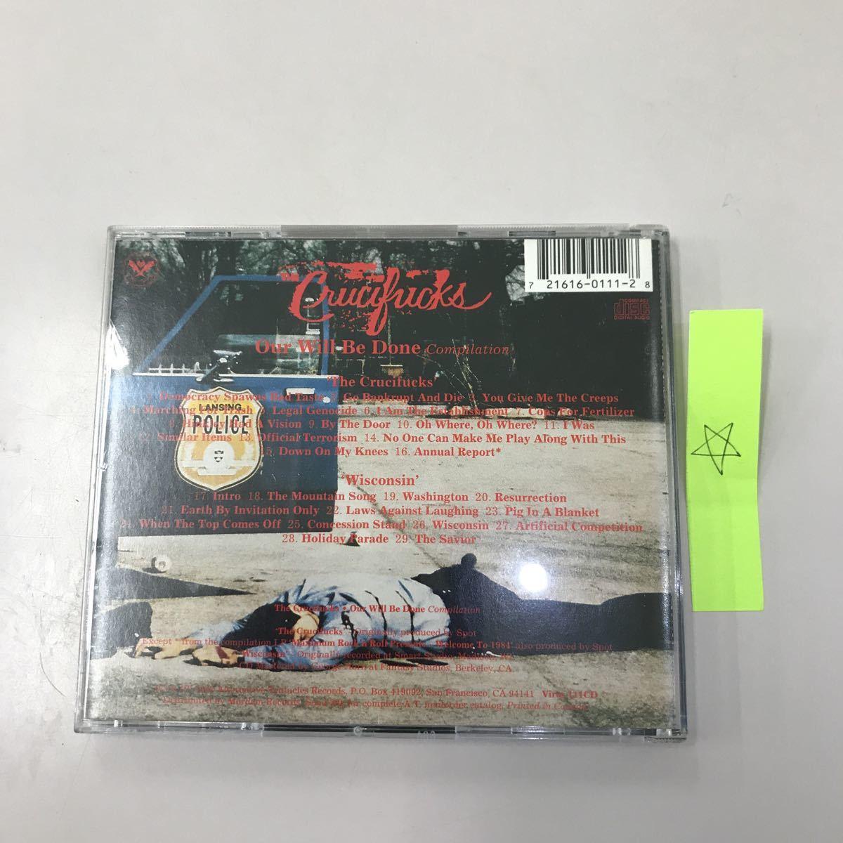 CD 輸入盤 中古【洋楽】長期保存品 The Crucifucks