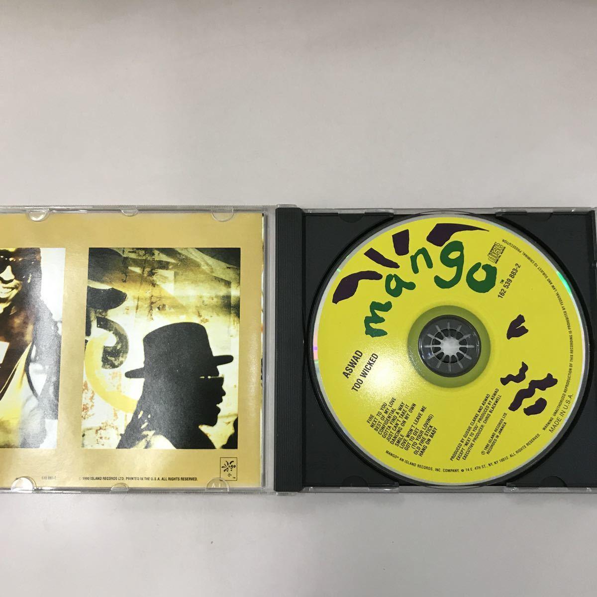 CD 輸入盤 中古【洋楽】長期保存品 ASWAD TOO WICKED