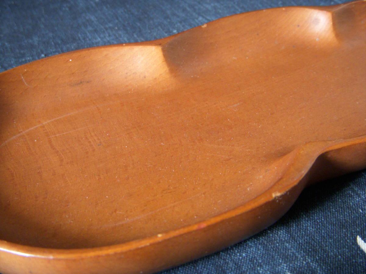 木製 葉形 茶盆 煎茶道具_画像5