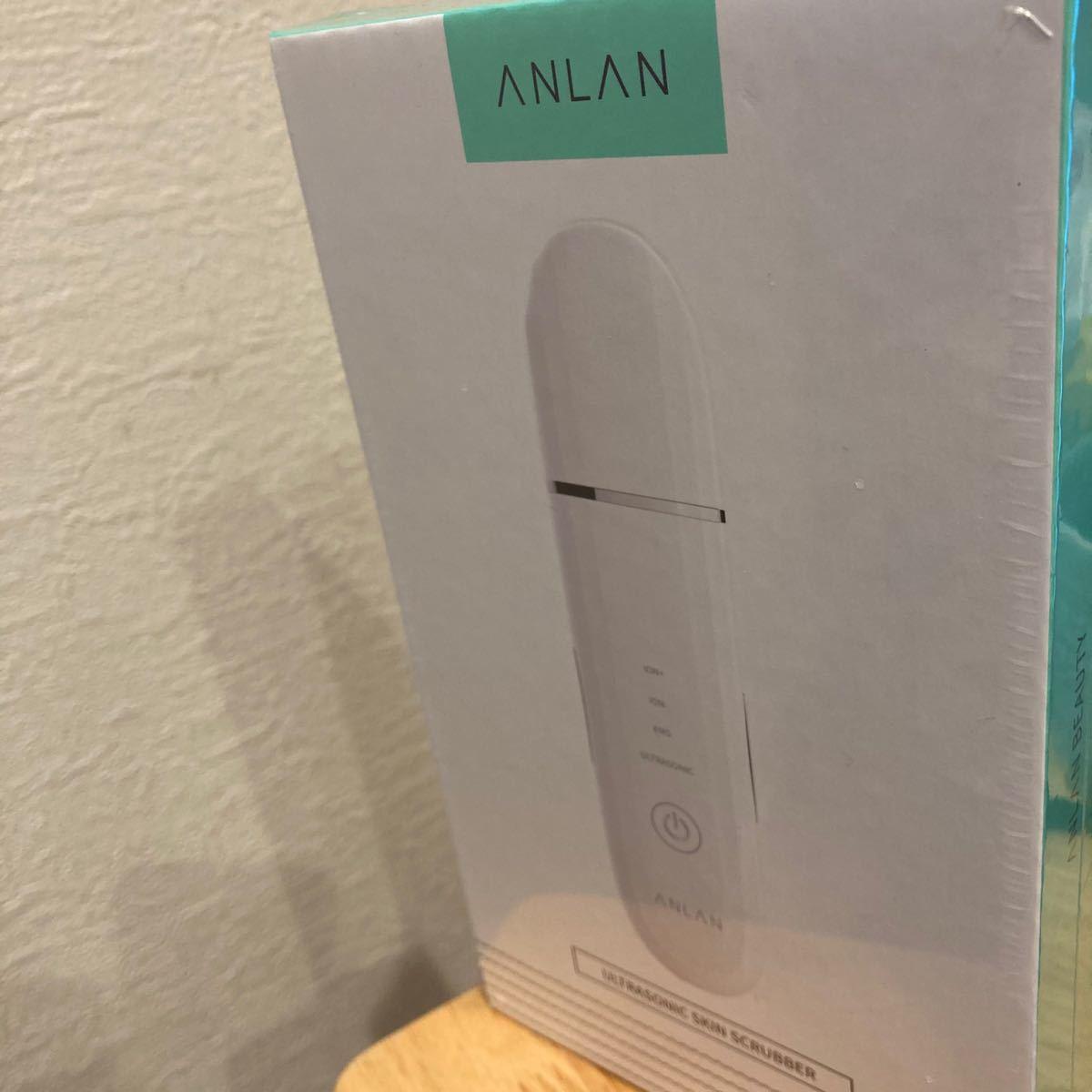 ウォーターピーリング ANLAN 超音波 美顔器 超音波ピーリング 超音波振動 EMS イオン導入 イオン導出 USB充電式