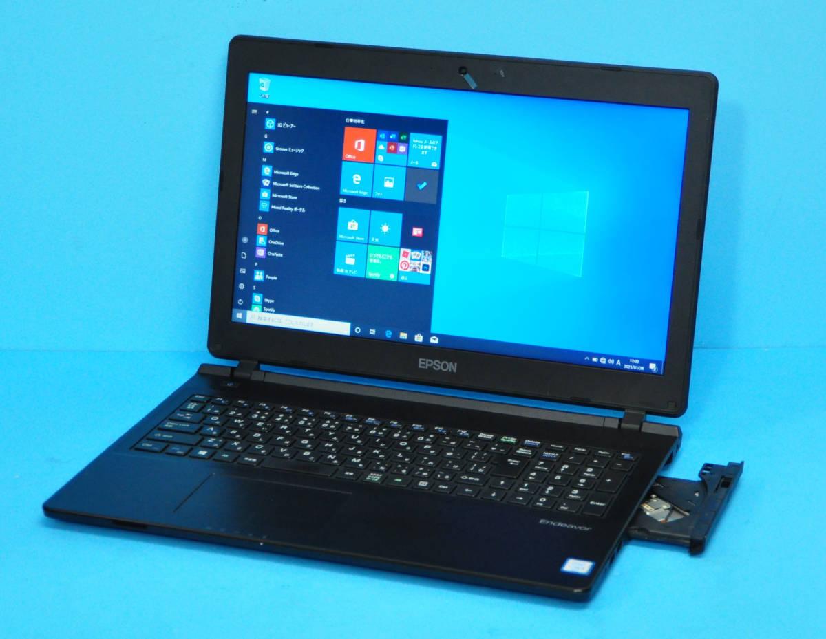 ♪ 良品 上位モデル フルHD Endeavor NJ4000E ♪ 高速SSD !! 大画面15.6 Corei5 6200U/ メモリ8GB/ SSD 256GB/ カメラ/ Office2019/ Win10_画像1