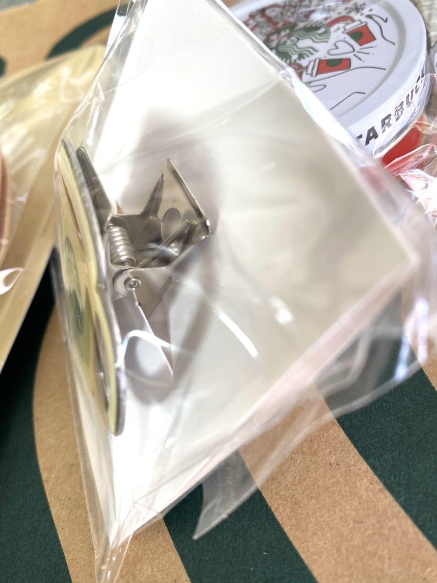 カップ柄 ★スターバックス ホリデー マスキングテープ クリスマス 非売品 限定 缶パーティーセット マグネットクリップ スタバ_画像8