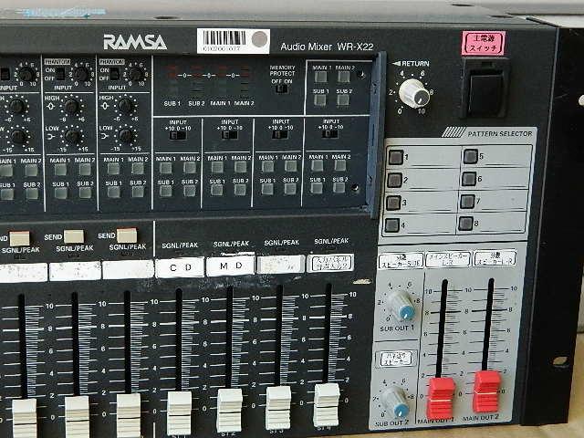 中古◆Panasonic パナソニック RAMSA オーディオミキサー WR-X22 (ジャンク扱い) ◆ _画像4