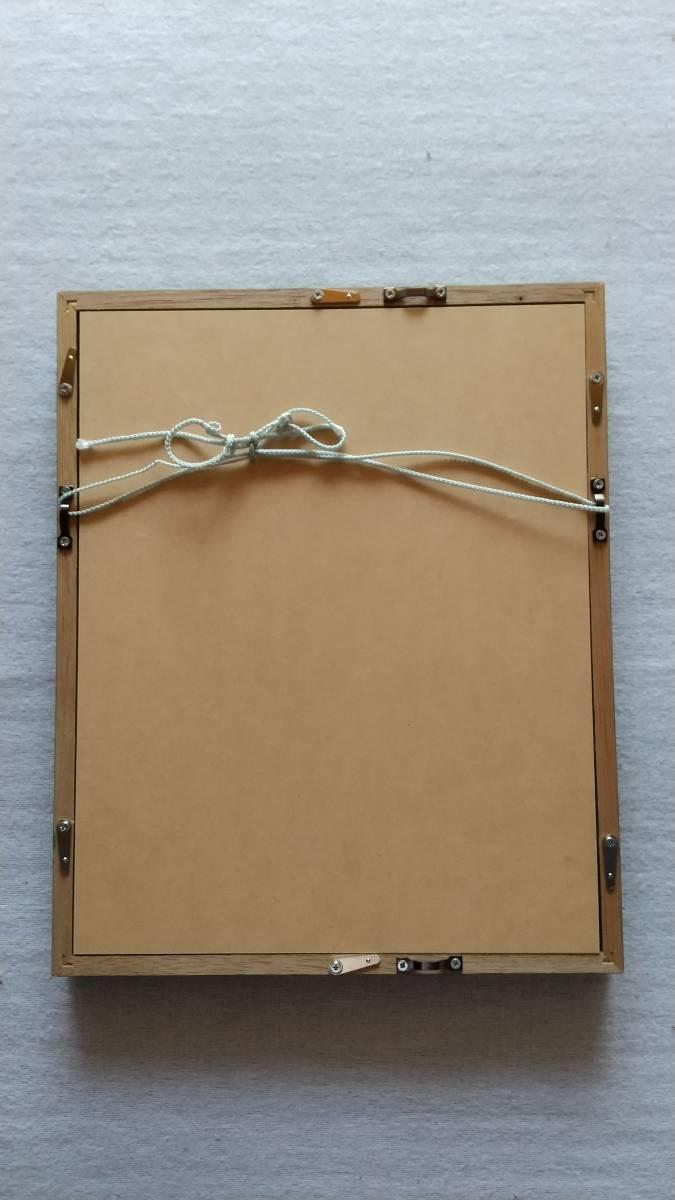 粟津潔 『黒の椿』 木版画 直筆サイン入り 1981年制作 額装 【真作保証】_画像6