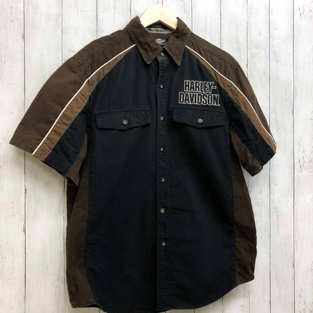 HARLEY DAVIDSON ハーレーダビッドソン 古着 半袖シャツ メンズ コットン100% Mサイズ 9-66_画像3