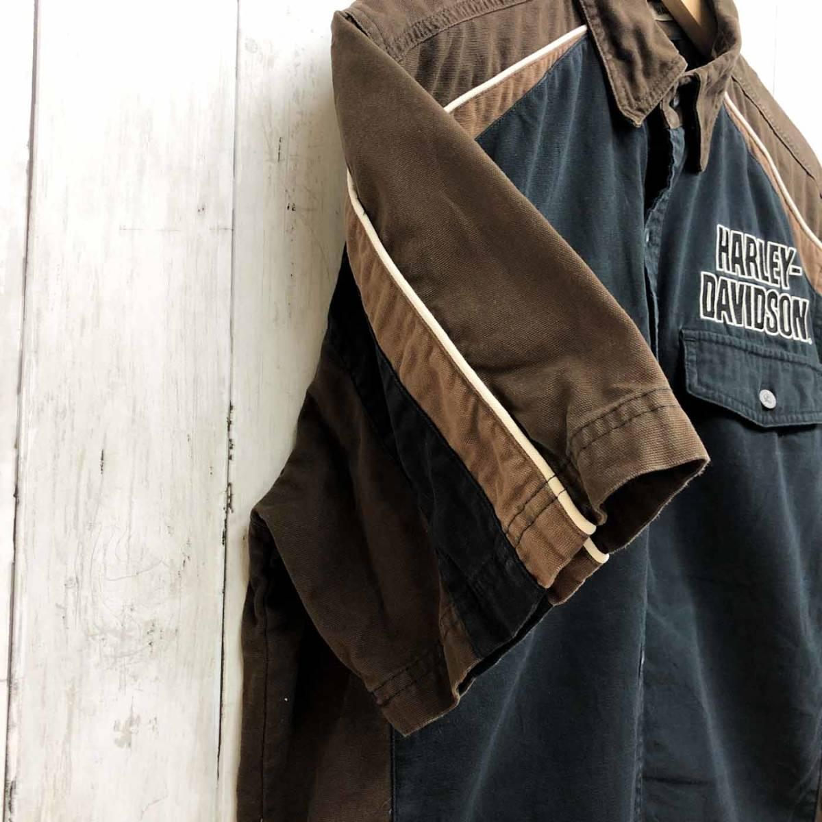 HARLEY DAVIDSON ハーレーダビッドソン 古着 半袖シャツ メンズ コットン100% Mサイズ 9-66_画像6