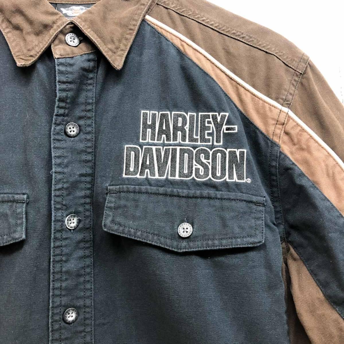 HARLEY DAVIDSON ハーレーダビッドソン 古着 半袖シャツ メンズ コットン100% Mサイズ 9-66_画像4