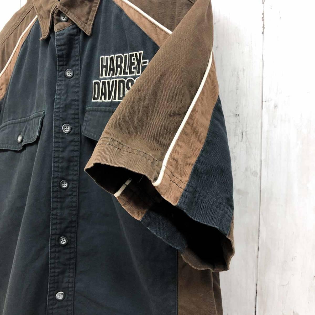 HARLEY DAVIDSON ハーレーダビッドソン 古着 半袖シャツ メンズ コットン100% Mサイズ 9-66_画像7