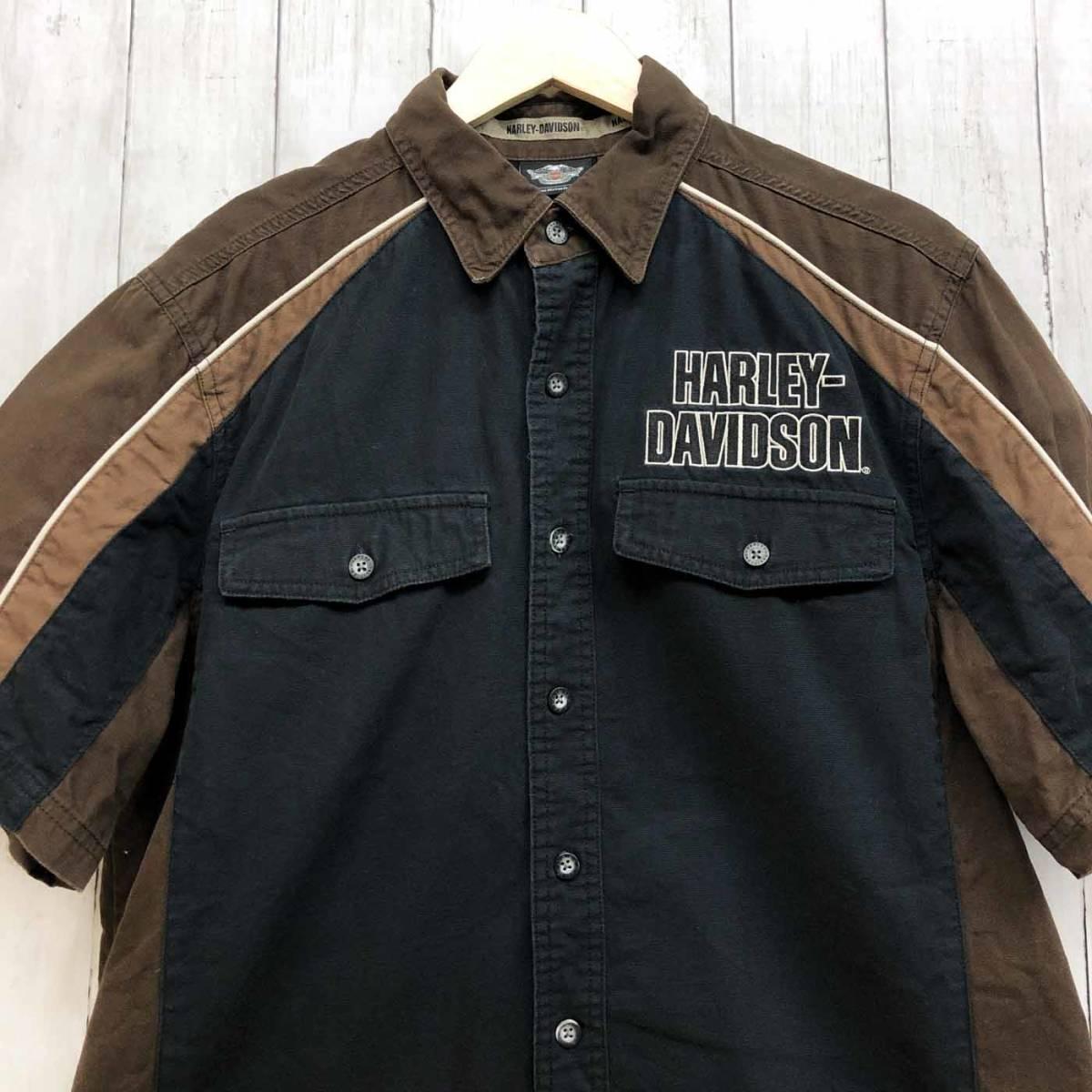 HARLEY DAVIDSON ハーレーダビッドソン 古着 半袖シャツ メンズ コットン100% Mサイズ 9-66_画像1