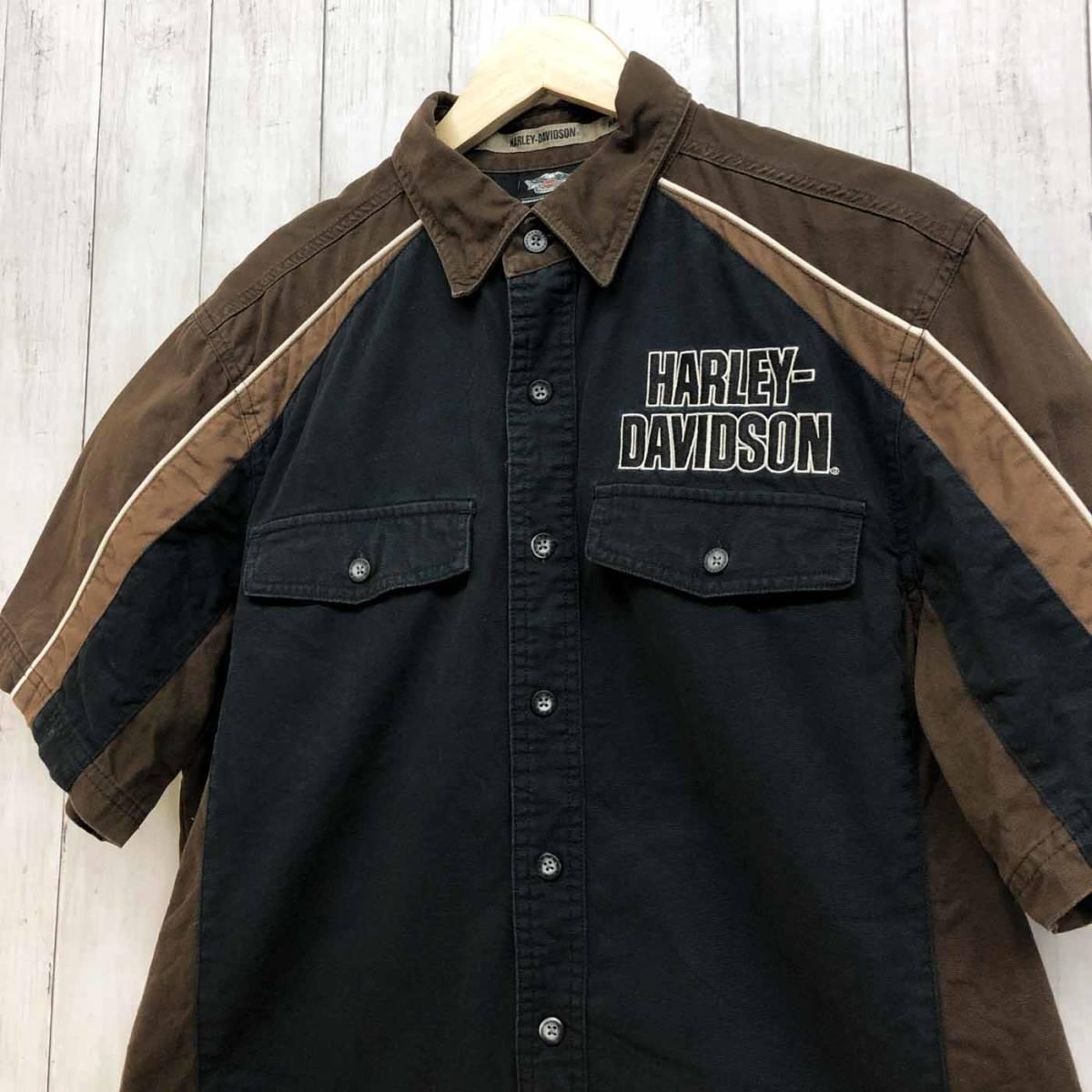 HARLEY DAVIDSON ハーレーダビッドソン 古着 半袖シャツ メンズ コットン100% Mサイズ 9-66_画像2