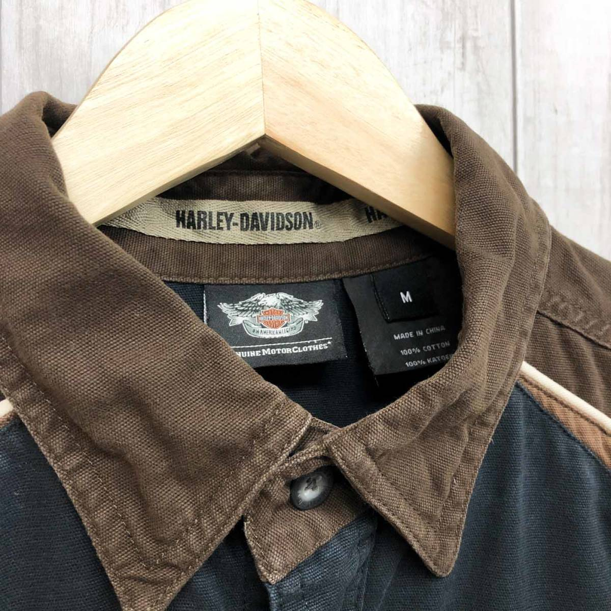HARLEY DAVIDSON ハーレーダビッドソン 古着 半袖シャツ メンズ コットン100% Mサイズ 9-66_画像5