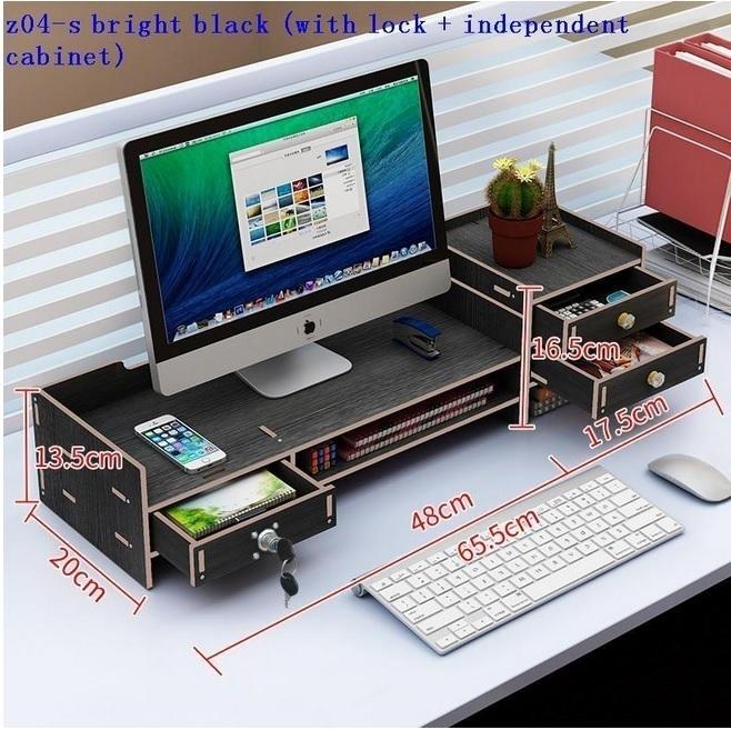 CSN561#スタンド パソコンデスク ラップトップホルダ モニター 棚 ラック 収納 引き出し オフィス 多機能 木製 デスク 机_画像4