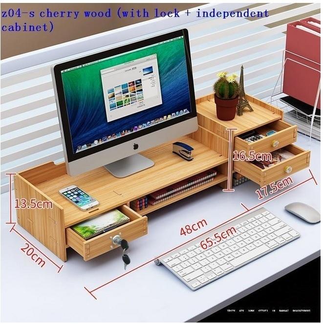 CSN561#スタンド パソコンデスク ラップトップホルダ モニター 棚 ラック 収納 引き出し オフィス 多機能 木製 デスク 机_画像2