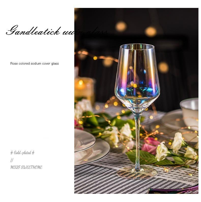 LDL991# 2 ピースセット 結婚式 乾杯 ワイングラス パーティー ワイン ギフト レインボー プレゼント コップ ガラス 食器 おしゃれ_画像5