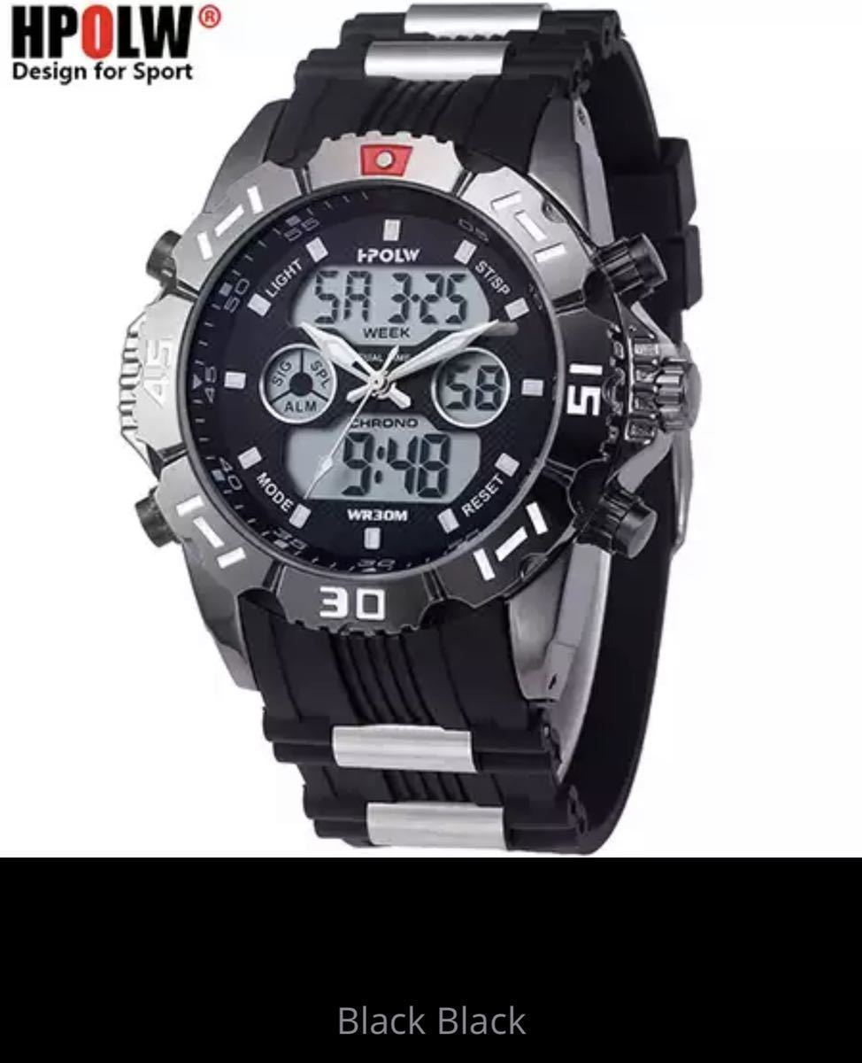 LDL719#海外メーカー アナログメンズ&デジタル メンズスポーツ クオーツ 腕時計クォーツ アナデジ LED 防水 スポーツウォッチ_画像3